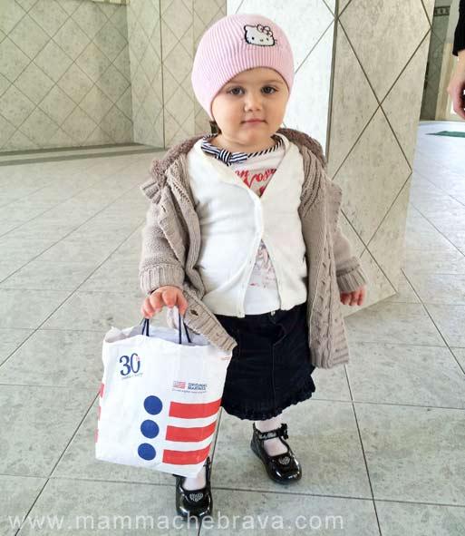 fare shopping con i bambini
