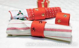 Portatovaglioli natalizi faidate da realizzare con rotoli di carta