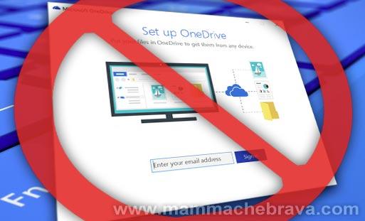 Disattivare Microsoft Onedrive