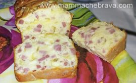 Plumcake salato con prosciutto cotto