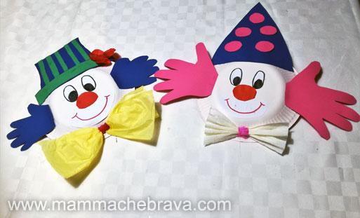 Mammachebrava Pagliacci Con Piatto Di Carta Addobbi Carnevale