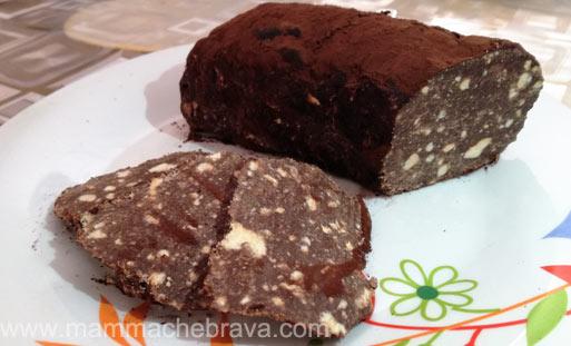 Torta Senza Uova Al Cioccolato.Mammachebrava Salame Al Cioccolato Senza Uova