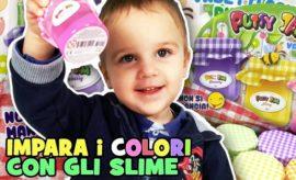 Giochiamo con lo slime ed impariamo i colori!