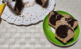 Ciambella con farina integrale bicolore